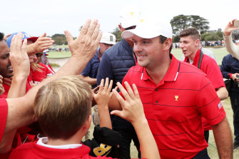 The always controversial Patrick Reed shone again for the US on the final day of the Presidents Cup.