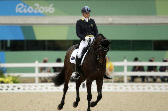 Australia's Mary Hanna riding Boogie Woogie 6 at the Rio Olympics.