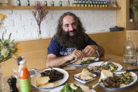 Costa Georgiadis at Mabu Mabu cafe in Yarraville.
