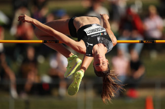 Record: Nicola McDermott cleared two metres in the high jump final at the national championships.