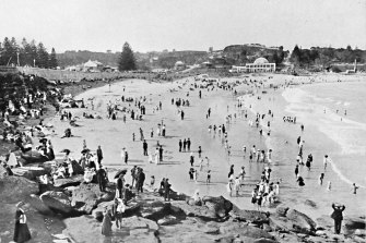 Holiday time at Sydney's Coogee, circa 1900.