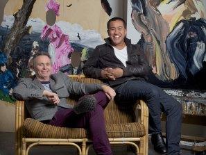 Anh Do with his art teacher Paul Ryan.
