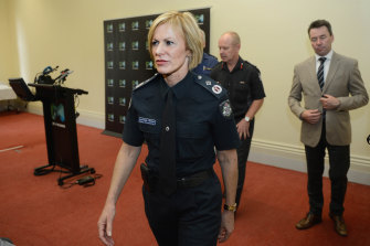 Lucinda Nolan became deputy commissioner of Victoria Police. She  kept a framed photo of Mick Miller in her office.