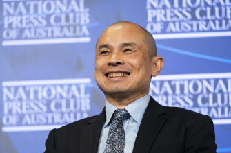 Wang Xining, deputy head of mission of the Chinese embassy in Canberra.
