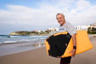 John Ray is happy Bondi Beach has reopened for swimming and surfing. More restrictions will also be eased in NSW.