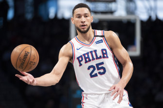 Ben Simmons and the 76ers play their first match of the resumed NBA season on August 1 against Indiana.