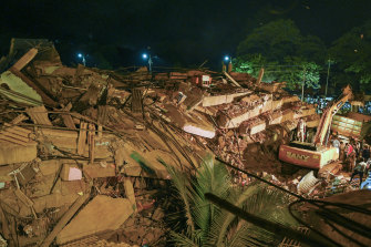 A local politician estimated up to 125 people were inside the building when it collapsed.