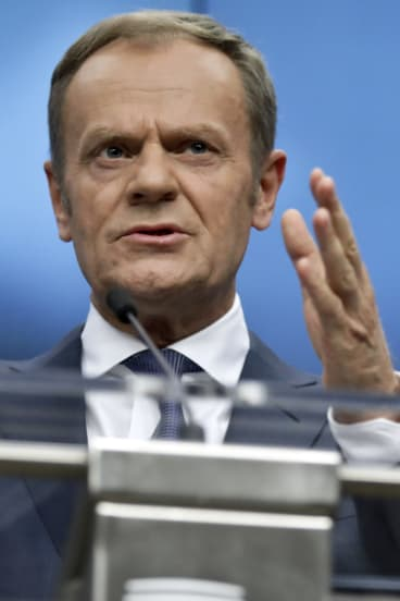 Donald Tusk was exasperated by Boris Johnson comparing the EU to Hitler.
