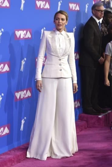 Suiting herself ... Blake Lively in Ralph & Russo at the VMAs.