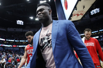 No rush: The Pelicans are taking their time with injured No.1 draft pick Zion Williamson.