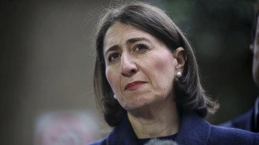 "Premier Gladys Berejiklian said ""we need a pause in population growth in Sydney""."