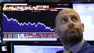 Wall Street is suffering through another day of heavy losses.