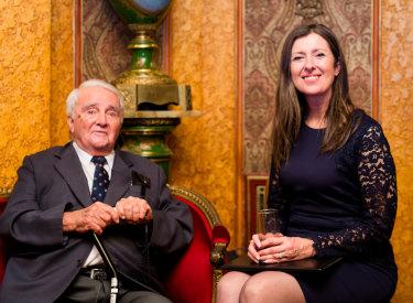 Reg St Leon with current IGS principal Shauna Colnan.