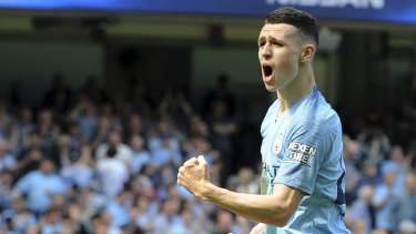 Phil Foden was on target for City.