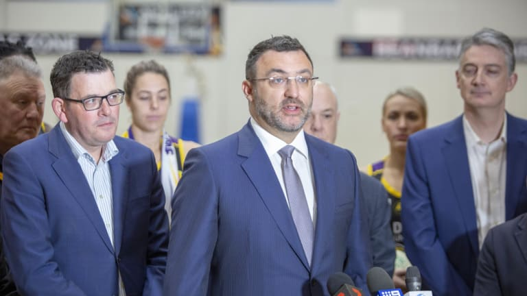 NBL chief executive Jeremy Loeliger speaks at the announcement of a second team in Melbourne.