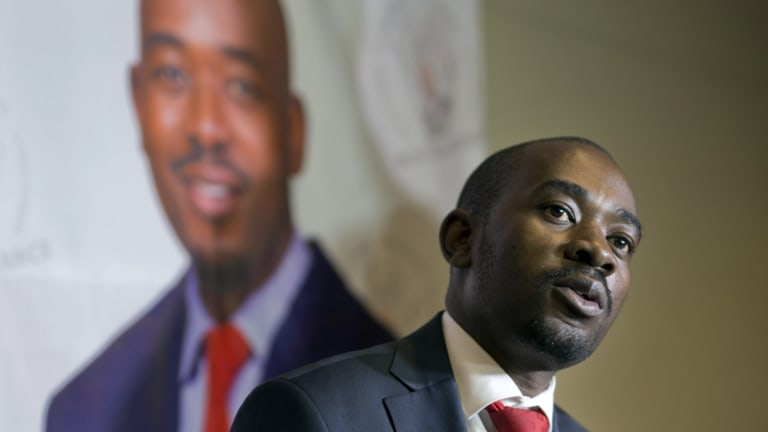 Zimbabwean's main opposition candidate Nelson Chamisa on August 2.