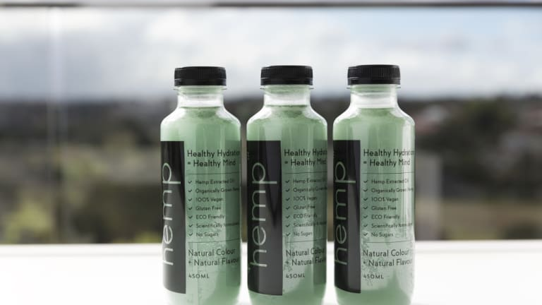 +hemp water products.