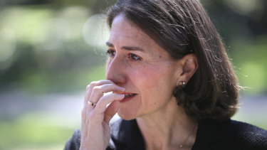 Gladys Berejiklian addresses the media after the Liberals' byelection loss.