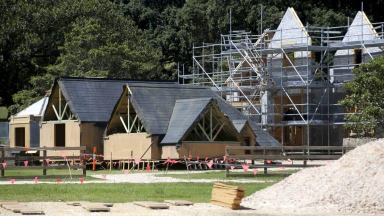 Construction has begun on the set for Peter Rabbit 2 in Centennial Park.
