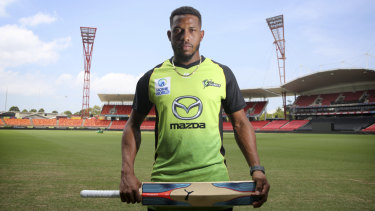 Keen to make a splash: Chris Jordan will make his Sydney Thunder debut on Sunday.