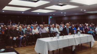 A hearing of the Franking Credit Inquiry in Dee Why, Sydney, in November.