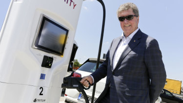 Coal power plant owner Trevor St Baker is backing a boom in electric vehicles, investing in charging infrastructure running from Adelaide to Cairns.