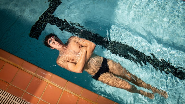 Star gazing: Cameron McEvoy has changed coaches and searched for new meaning in the pool.