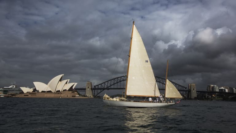 The Sydney Opera House, pictured here during the 2017 Sydney to Hobart race, was opened in 1973.