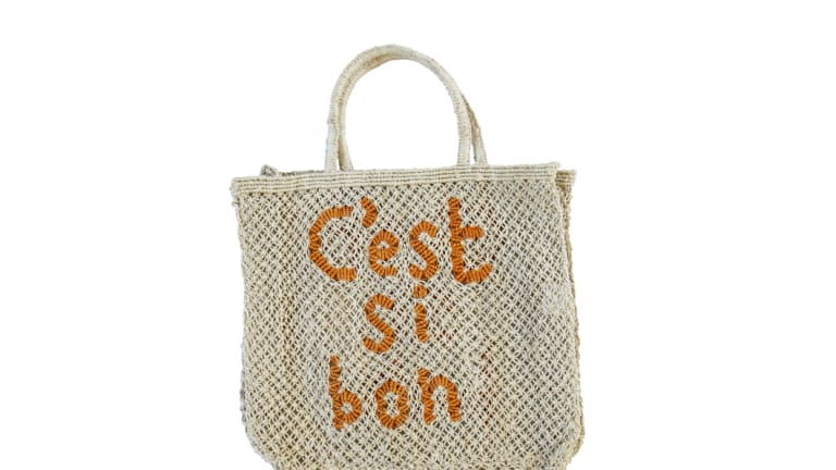 These market bags are made by British label The Jacksons, working with local women in Bangladesh.