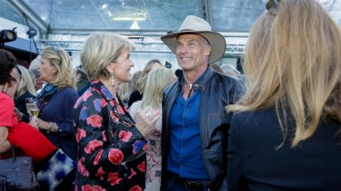 Julie Bishop and David Panton at the Town & Country themed party.
