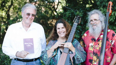 From left, poet John Passant, musicians Milena Cifali and Jim Horvath.