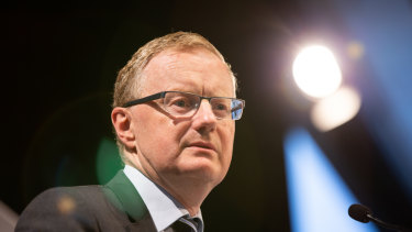 RBA governor Philip Lowe. The gap has widened between what the RBA and policy makers want and what they're getting.