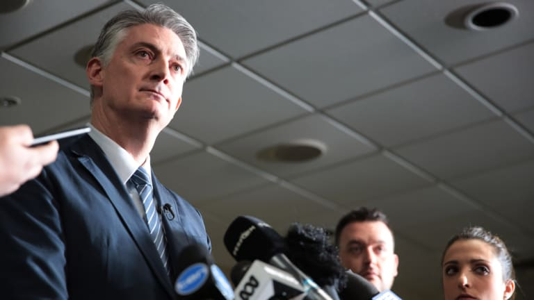 Basketball Australia CEO Anthony Moore speaks to the media after FIBA handed down sanctions over the basketball brawl.