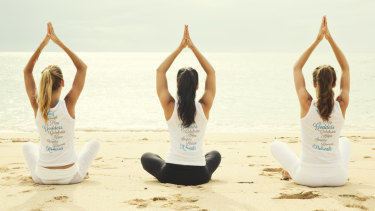 Daily afternoon yoga sessions were a highlight of the Bali Goddess Retreat package.