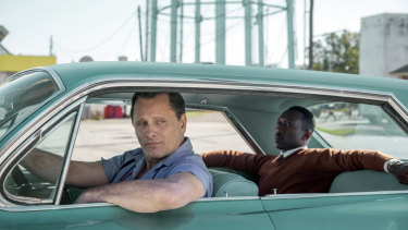 Viggo Mortensen, left, and Mahershala Ali in Green Book.