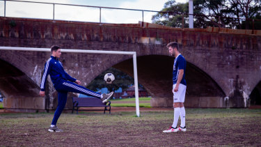 Jumping on board: Mitchell Moses is trying his hand at football coaching.