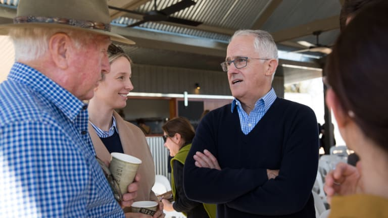 Prime Minister Malcolm Turnbull in Blackhall in June.