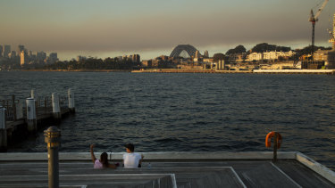 Sydney is blanketed by a smokey haze from RFS hazard reduction burns.