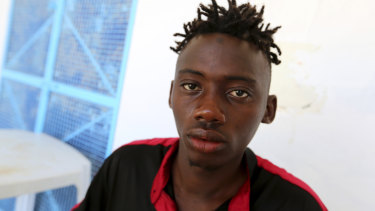 This Malian man survived a shipwreck off the coast of Tunisia on Thursday, that killed 82 of 86 migrants on board.