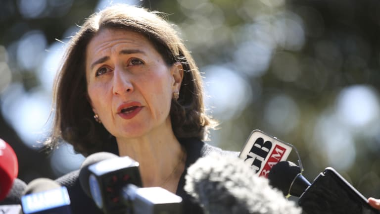 Gladys Berejiklian talks about the Wagga byelection on Sunday morning.