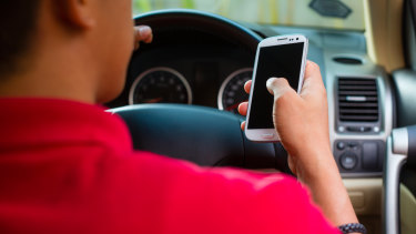 About 60 per cent of drivers say they read texts while on the road.