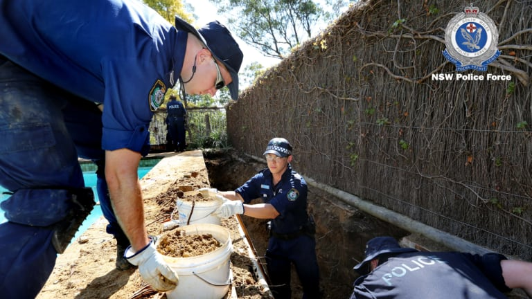 A police search for remains at the former Dawson property in September came up empty-handed.