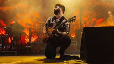 Foals seamlessly mixed their vintage tracks with newer material.