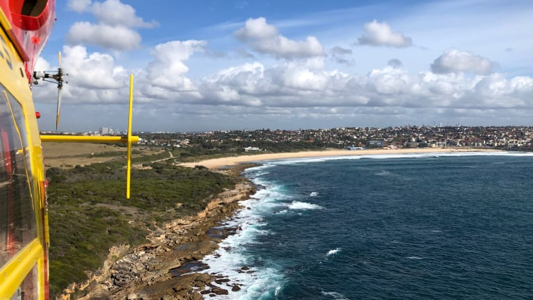 Westpac Life Saver Rescue Helicopters were assisting a police search for a potential missing person at Maroubra Beach on Friday.
