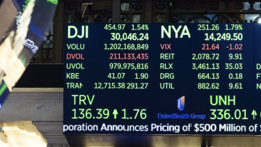 The Dow Jones Industrial Average closed above 30,000 points for the first time last week.