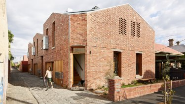 The Brunswick development has recycled brick, double-glazed windows doors and an active ventilation system.