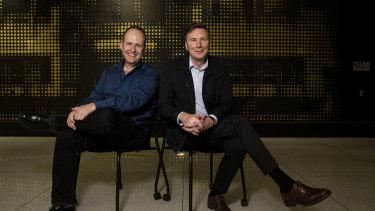 Tyro CEO Robbie Cooke and chairman David Thodey.