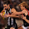 As it happened: Collingwood keep gutsy Bombers at bay