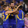 Josh Kennedy kicked the winning goal for the Eagles