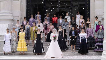 Pearls, taffeta and the empire waist: Couture week brings romance back